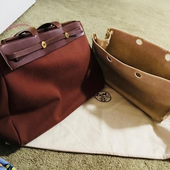 Hermes Handbags - Authentic Hermes Cloth bag. Chocolate brown HS 40 d87a8255cef8